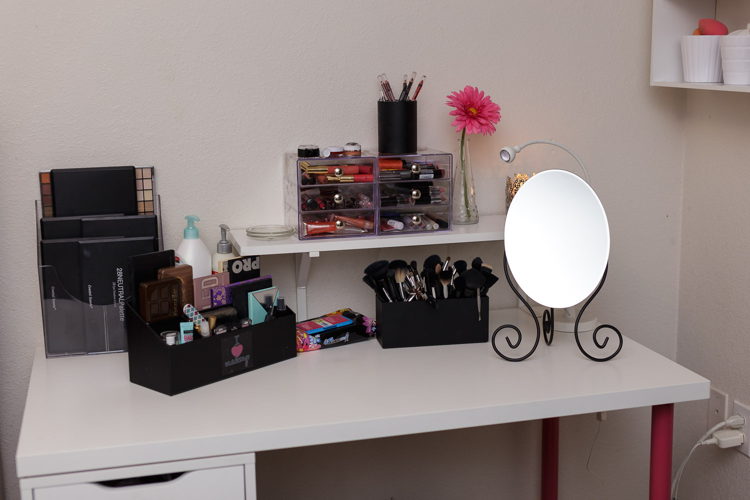 New Makeup Desk Makeup Collection Itty Britty S Life